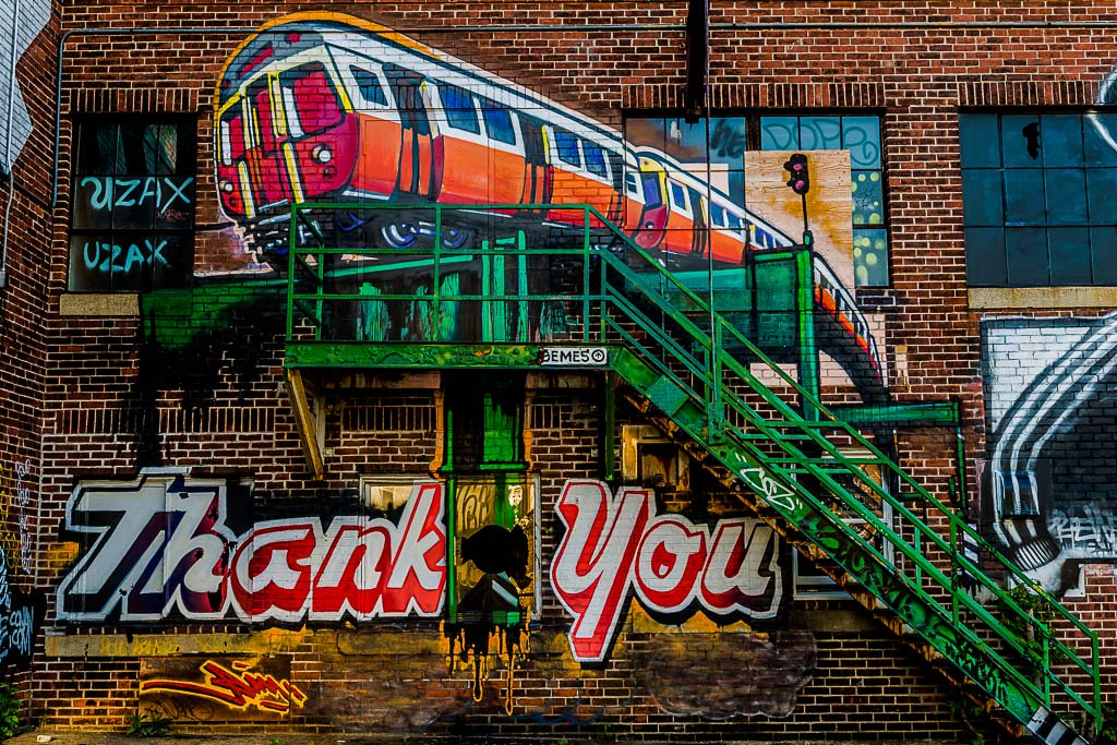 Art or artwork what is it that defines it for Thank you mural