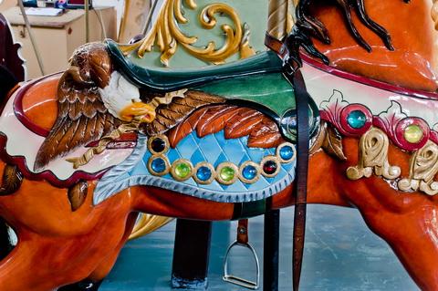Carousel horse saddle 6142