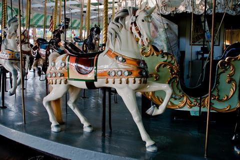 Carousel horse closeup 6036